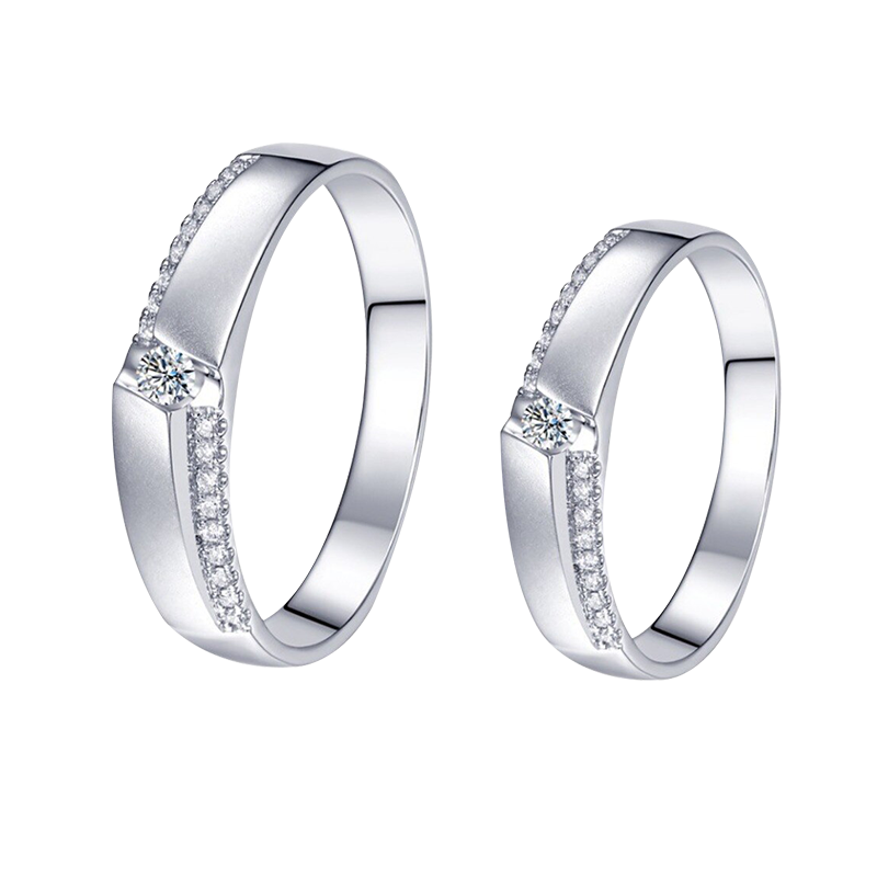 White Gold Band Rings