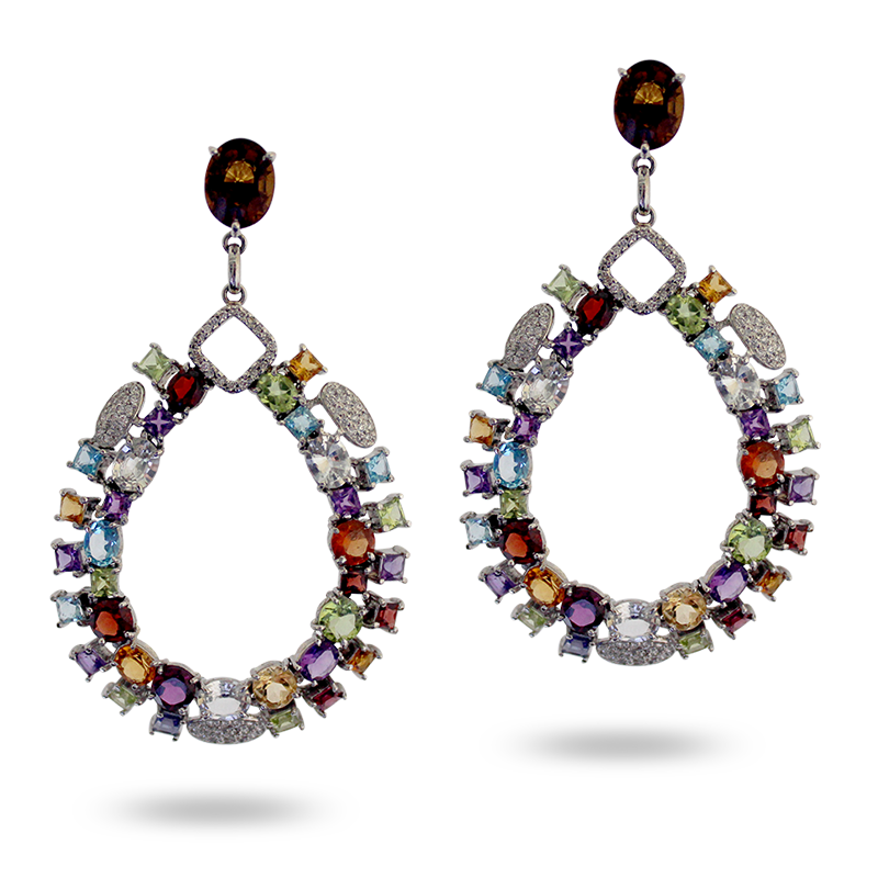Hand Crafted Semi Precious Gemstone Earrings