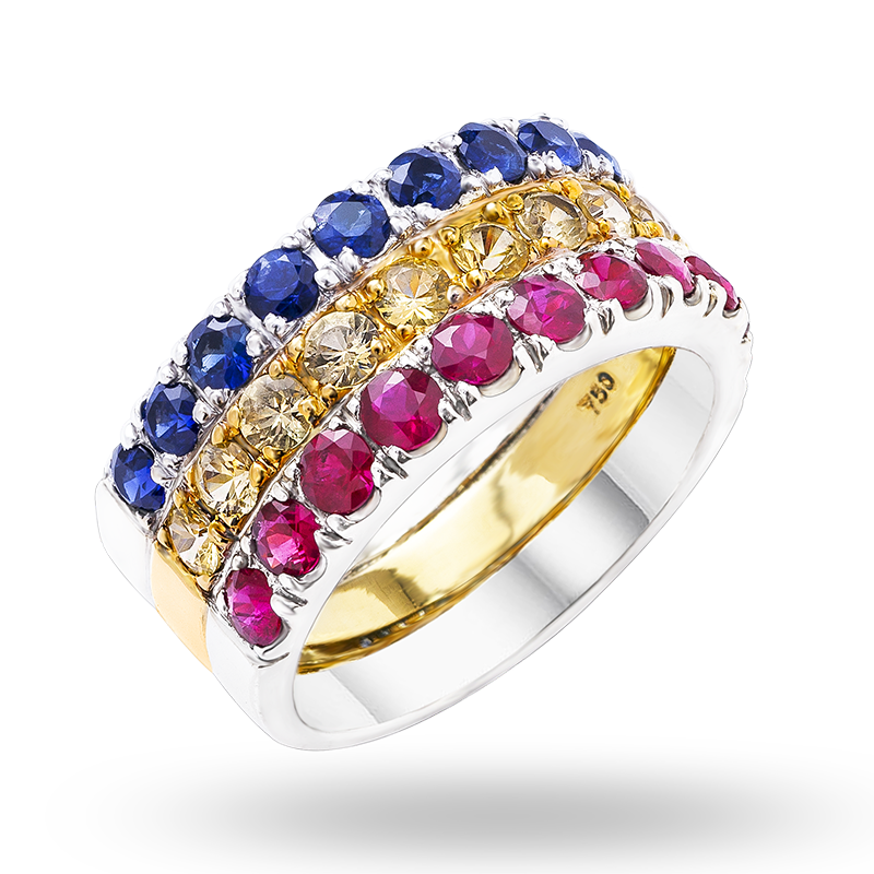 Fancy Coloured Sapphire Ring