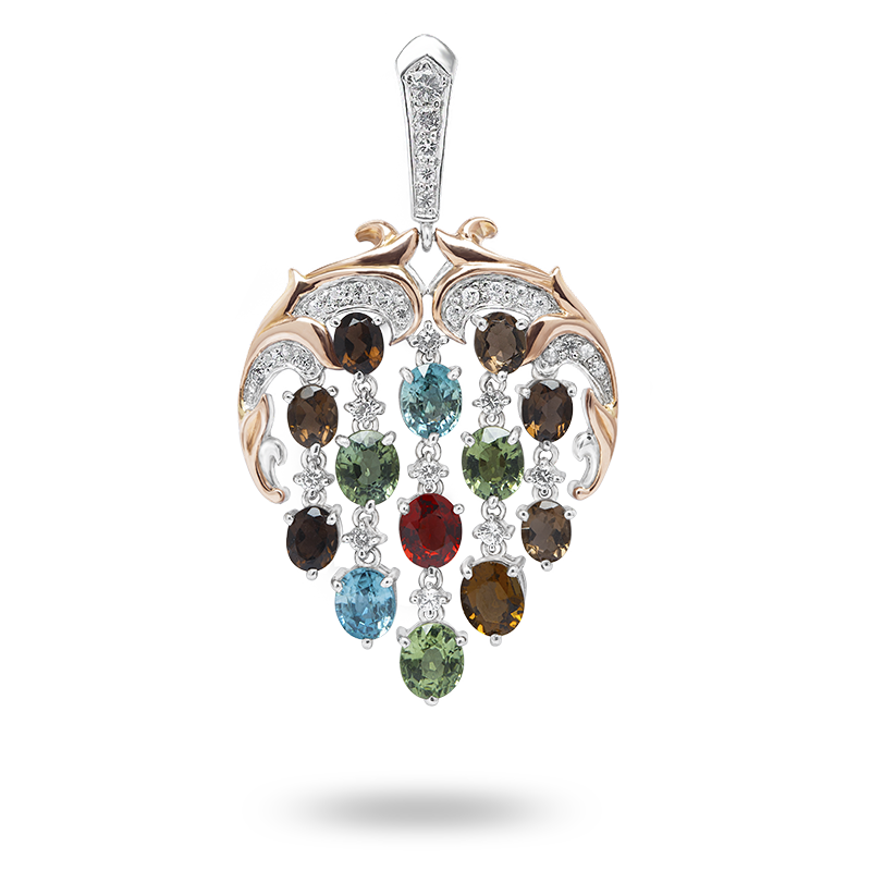 Fancy Coloured Semi Precious Gemstone Pendant
