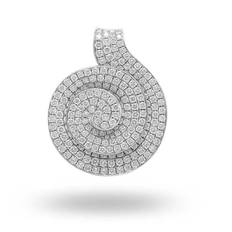 Pave Set White Gold Diamond Pendant
