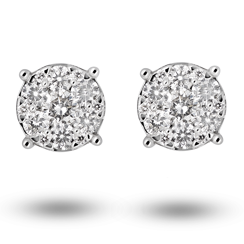 Pave set Diamond Earrings