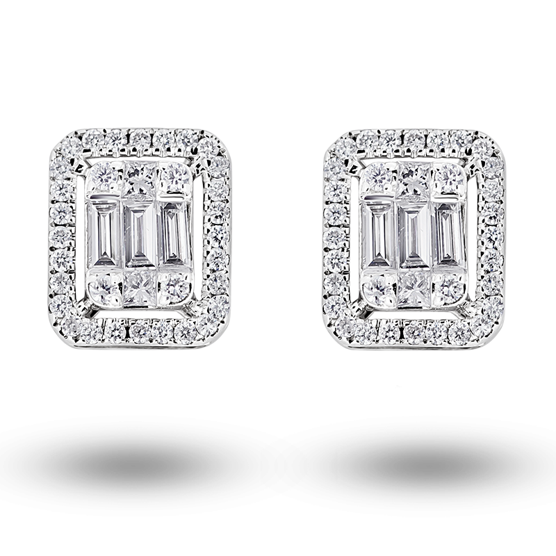 Illusion set Diamond Earrings