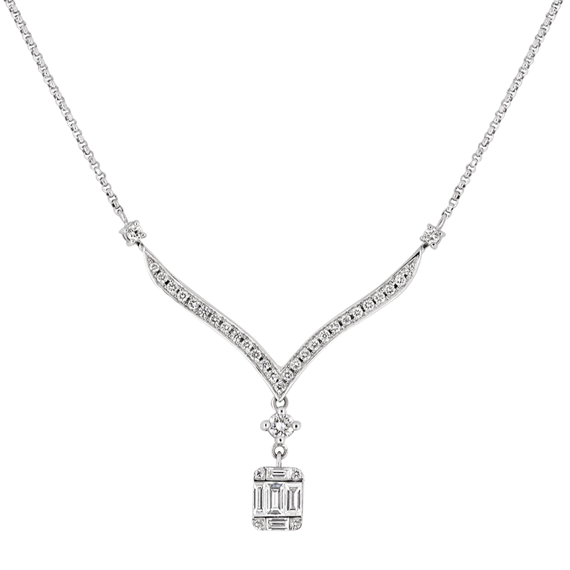 Illusion set Diamond Necklace