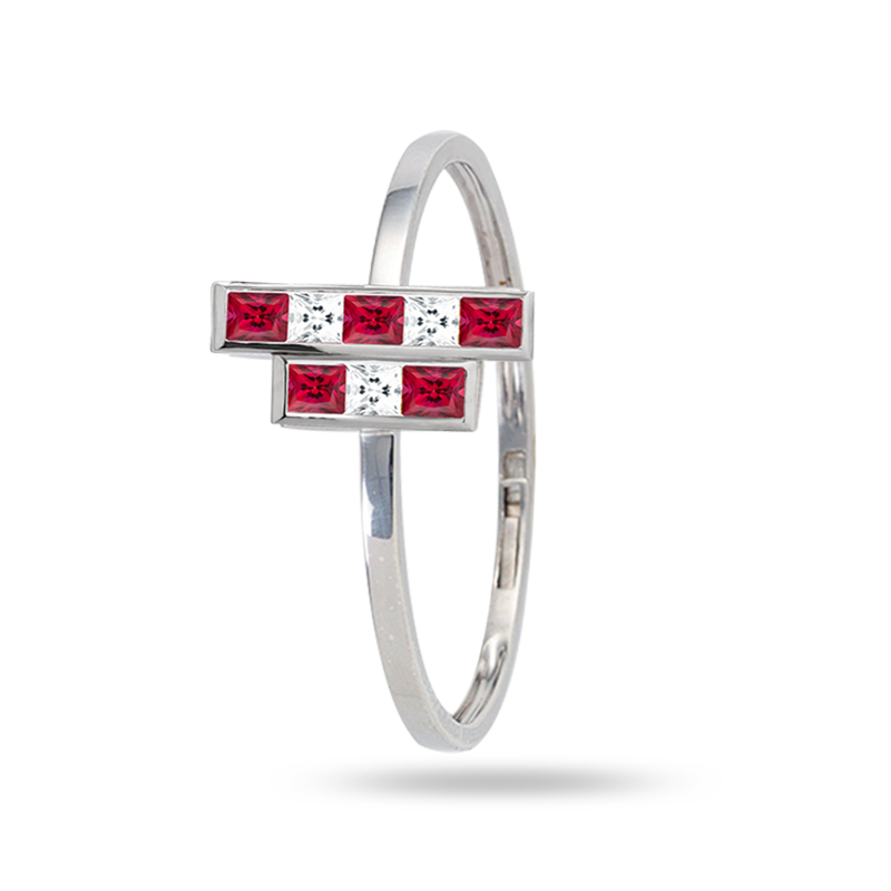 The Red Building Bangle - Medium