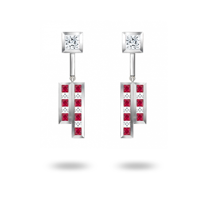 The Red Building Earrings - Large